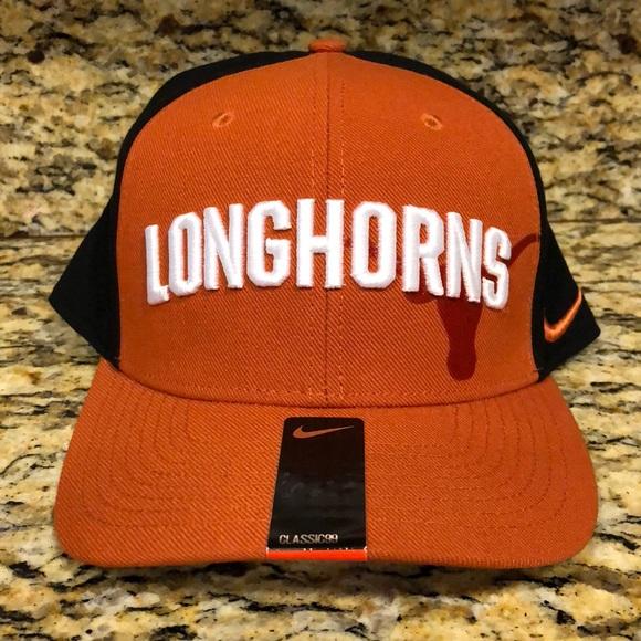 d3d8ef067832 Texas Longhorns Nike Classic 99 Swoosh Flex Cap